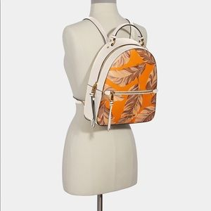 Jordyn Backpack With Banana Leaves Print